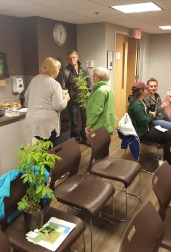 Free plants and door prizes.